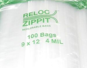 1000 Ziplock 9 X 12 Heavy Duty 4mil 9 X 12 Bags Large Thick Clear Reclosable
