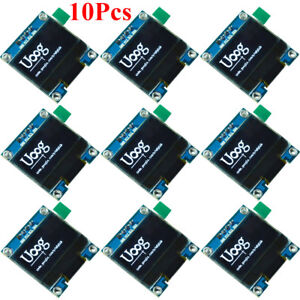 10pcs 0 96in I2c Iic 128x64 White Oled Lcd Led Display Module For Arduino