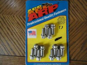 Arp 400 1203 3 8 Sbc Ss Stainless Steel Header Bolts 12 Point W wire Holes