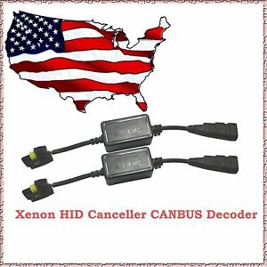 2pcs Hid Xenon Warning Decoder Error Canceller Capacitor Anti Flicker Fit Bmw