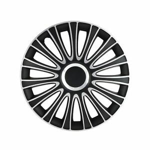 Alpena 58287 Le Mans Black Silver Wheel Cover Kit 17 Inches Pack Of 4