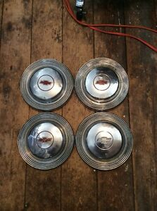 1966 Chevy Impala Dog Dish Poverty Hubcaps 10 1 2