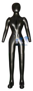 Inflatable Female Mannequin Full size Head Arms Black