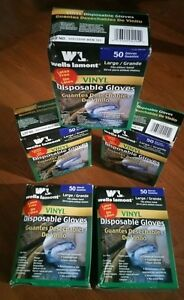 5 Boxes Of Wells Lamont Disposable Vinyl Gloves 50 Count 5 mil 155 Lot