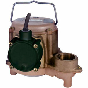 Little Giant 8 cbm 4 10 Hp Cast Bronze Submersible Sump Pump non automatic