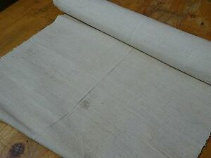 A Homespun Linen Hemp Flax Yardage 6 5 Yards X 19 Plain 8329
