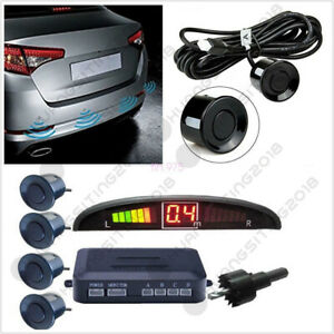 Autos 4 Sensors Buzzer Radar Led Display Audio Alarm Reverse Parking Parktronic