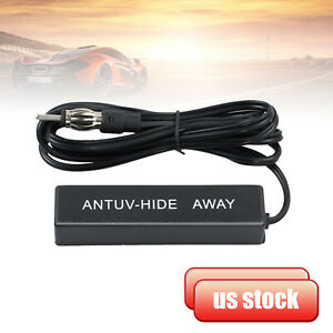 Universal Car Hidden Amplified Antenna Kit 12v Electronic Stereo Am fm Radio New