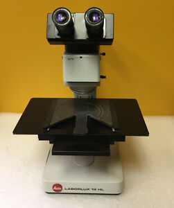 Leitz Laborlux 12hl 2 Periplan 10x Eyepieces Microscope No Objectives