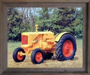 Vintage 1938 Uts Minneapolis Moline Farm Tractor Wall Decor Art Framed Picture
