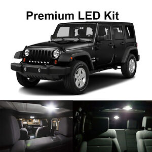 6 X White Led Interior Bulb License Plate Lights For 2007 2017 Jeep Wrangler Jk