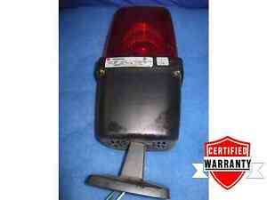 Federal Signal 400st Red Industrial Strobe Light 1 Year Warranty