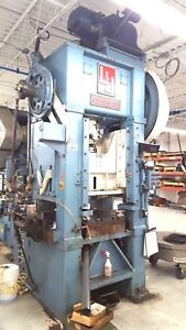 L J 100 Ton Stamping Punch Press Machine Straight Side Pristine See Video