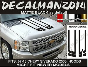 Racing Stripes Vinyl Hood Decal Fits 07 13 Chevy Silverado 2500 Trucks Hd