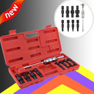 9pc set Blind Hole Pilot Bearing Gear Puller Slide Hammer Removal Repair Kit Vip