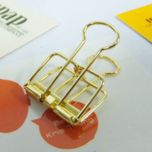 48pcs Office School Stationery Gold Binder Clip 19mm