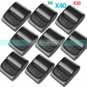 58mm Wireless Bluetooth Usb Thermal Receipt Printer Line Mobile Pos Lot Usa Vip