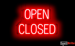 Spellbrite Ultra bright Open Closed Sign Neon Look Led Performance