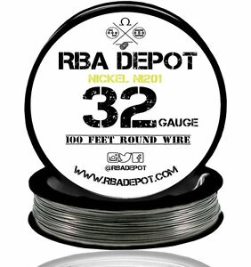 32 Gauge Awg Pure Nickel 201 Ni201 Competition Non Resistance Roll 500ft black