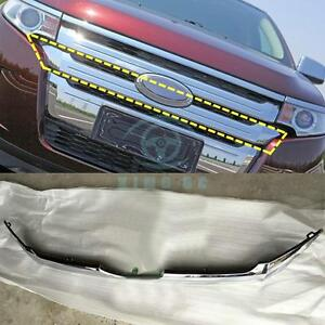 Front Grille Third Paragraph Abs Chromed Decorative Trim For Ford Edge 2011 2014