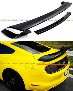 For 15 2020 S550 Ford Mustang Gt350 Style Painted Black Rear Trunk Spoiler Wing