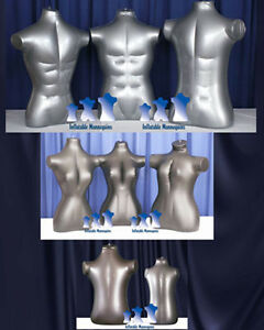 Inflatable Mannequin Family Torso Package Silver