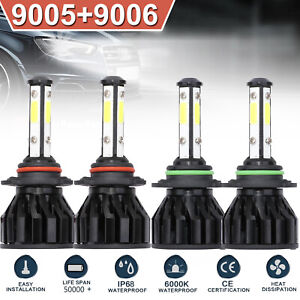 4pcs For Dodge Journey 9005 9006 4 sided Led Headlight High Low Beam Bulbs