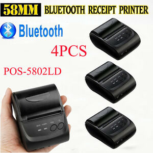Lot 4 Wireless Bluetooth Thermal Receipt Printer 58mm Line Mobile Pos Android V