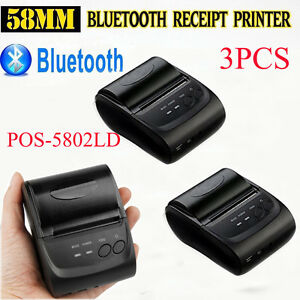 Lot 3 Wireless Bluetooth Thermal Receipt Printer 58mm Line Mobile Pos Android Vp