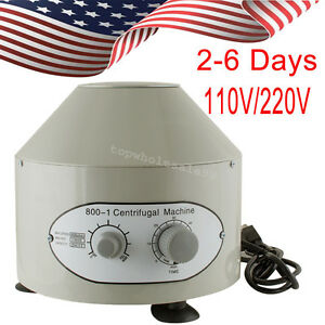 Usa 1pc Electric Centrifuge Machine 4000rpm Lab Medical Practice 110 220v 25w