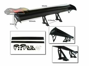 Gt Wing Type S Racing Rear Spoiler Black For Civic Crz Crx Insight Ev Del Sol