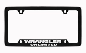 Jeep Wrangler Black Metal License Plate Frame Holder