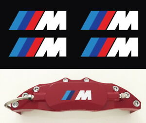 4x M Brake Caliper Performance Power Car Decals Stickers For Bmw Size 50mm