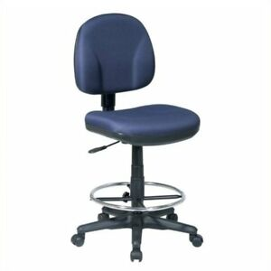Scranton Co Adjustable Drafting Chair With Stool Kit In Navy