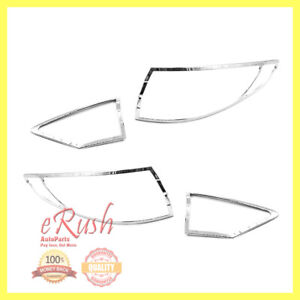 For 2013 2014 2015 2016 Ford Fusion Trim Bezel Tail Lights Cover 4pcs Covers New