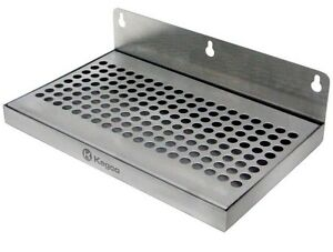 Tap Draft Beer Stainless Steel Drip Tray No Drain Faucet Drips Spills Catcher