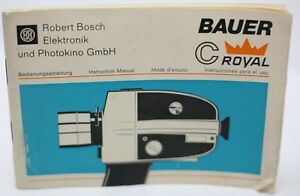 bauer c royal super 8 film movie camera