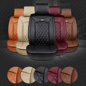 2pcs Warm Luxury Car Front Seat Pu Leather Car Seat Cover Cushion 3d Breathable