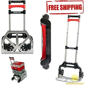 Cargo Magna Cart Aluminum Folding Hand Truck Rubber Wheel Compact Transportation