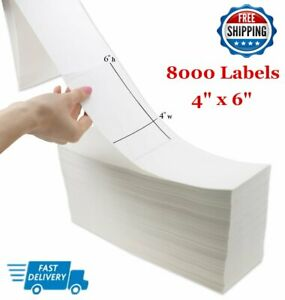 12000 Fanfold 4 X 6 Direct Thermal Shipping Postage Labels Zebra 2844 Usps Ups