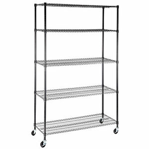 5 Tier Adjustable Layer Wire 82 x48 x18 Shelving Rack Heavy Duty Steel Shelf