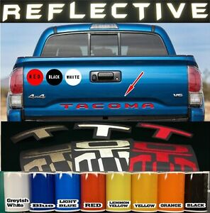 Reflective 2016 2017 2019 Toyota Tacoma Vinyl Tailgate Letters Decals