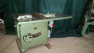Tannewitz Table Saw Model U Rack Pinion Production Fence Miter Gage