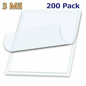 3 Mil Letter Size Thermal Laminating Pouches 200 9 X 11 5 Sheet Free Carrier