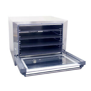Cadco Ov 023p Electric Convection Oven With 4 Pizza Heat Plate Shelves