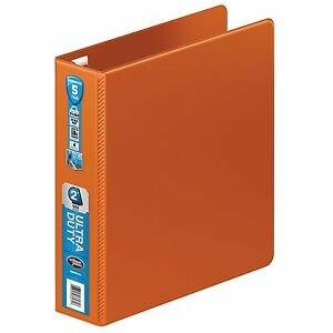 Wilson Jones Ultra Duty D ring Binder 2 Inch Dark Orange Lot Of 6 new