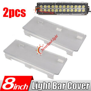 2x 8 Snap On Clear Cover Lens For Double Row Straight Curved Led Work Light Bar