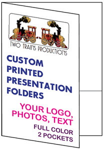 Printed Presentation Folders 100 Full Color Custom 2 pocket Your Logo