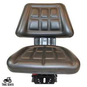 Black Long 260 310 350 360 2360 Black Triback Universal Tractor Suspension Seat