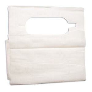 Disposable Lab Slipover Dental And Tattoo Bibs Poly Construction 16x33 4406